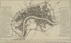 A plan of the city and suburbs of London as fortified by Order of Parliament in the years 1642 and 1643